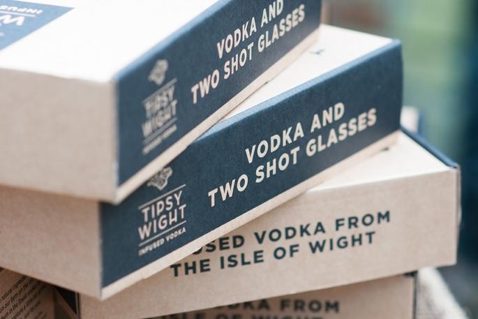 Vodka & Two Shot Glasses