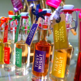 Festive mini bottles