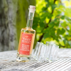 Spiced Honey Vodka Liqueur & Six Tipsy Shot Glasses