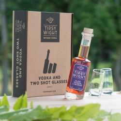 Sloe Vodka Liqueur & Two Shot Glasses