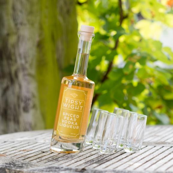 Spiced Pear Vodka Liqueur & Six Tipsy Shot Glasses Image